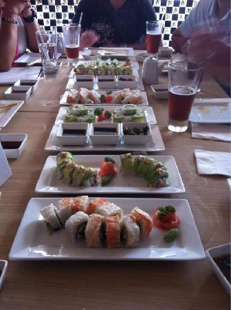 Sensei Cancún: A typical lunch with friends.