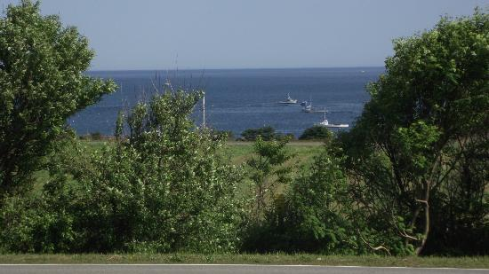 Dreams to Sea Cottages : View from balcony- Lobster boats