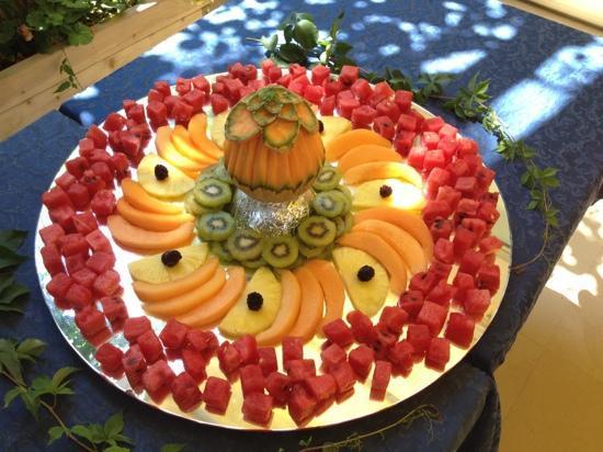 Hotel Maestri: un pezzo del buffet di frutta
