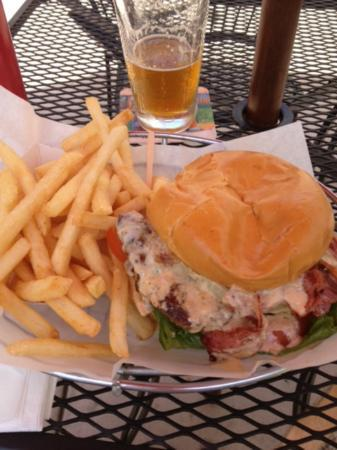 Ty's Burger House: Pastrami burger w/ a Breakwater Brewing brew