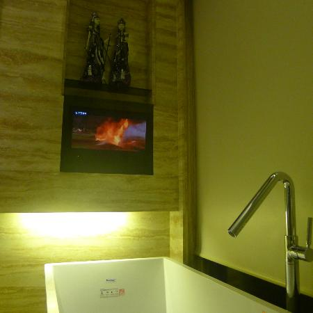 Grand Mega Resort & Spa: Pampering myself while watching good movies.