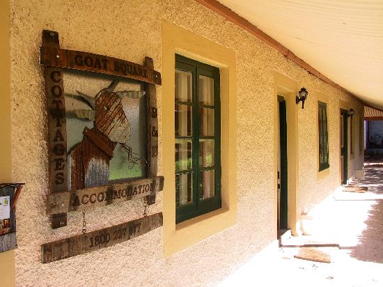 Goat Square Cottages: long low verandahs