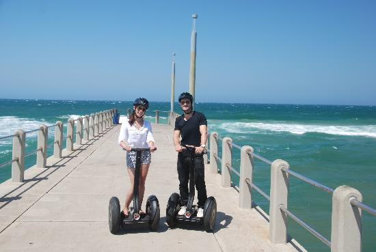 Segway Gliding Tours Moses Mabhida: Smell the Ocean Breeze on our most popular Beach Glide along Durbans Golden Mile.