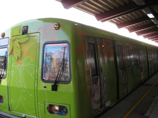 Sweetme Hotspring Resort: Colorful train from Beitou to Xin Beitou