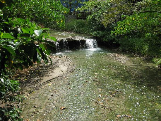 Sweetme Hotspring Resort: Little stream besides the Hot Spring Museum