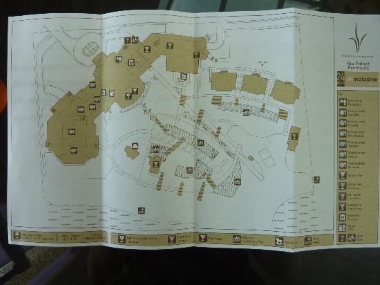 Hotel Map Picture Of Hotel Riu Palace Peninsula Cancun Tripadvisor