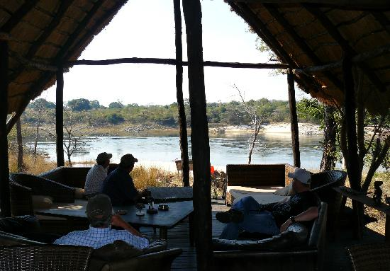 Sioma River Camp: View from the dining area