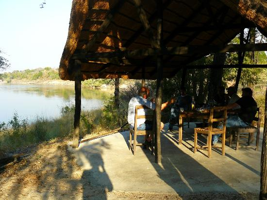 Sioma River Camp: Little hut overlooking the river