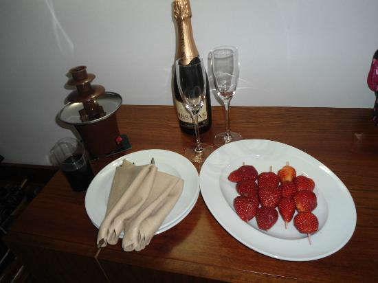 Complimentory champagne