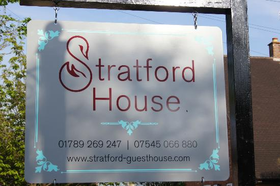 Stratford House: Front Sign