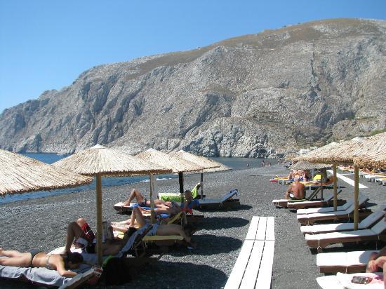 Santorini Reflexions Sea: Hoteleigener Strandabschnitt