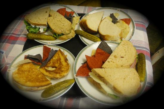 Chef John's Bakery & Cafe: Four great sandwiches! Mmmm.....!