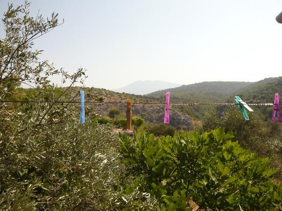 Xanthos Boutiquehotel: Aussicht vom Flur-Balkon