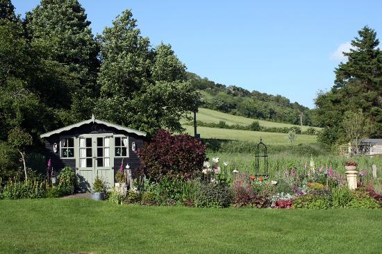 The Old Post Office B&B: The garden and the hills beyond