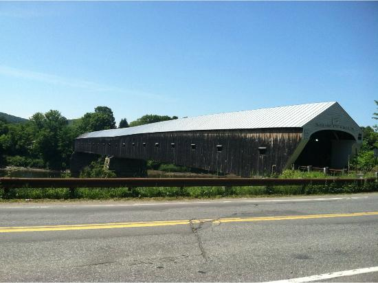 Cornish-Windsor Covered Bridge: It's a long one!