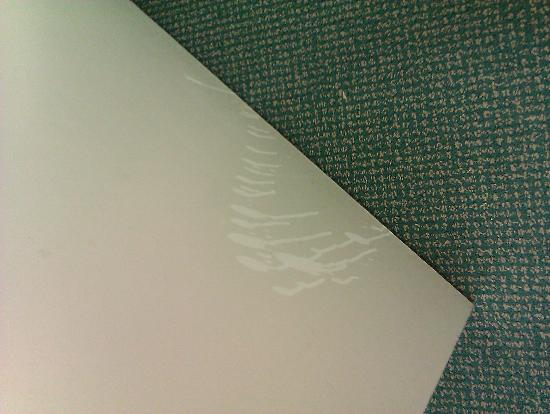 Extended Stay America - Savannah - Midtown: Bathroom door, walls, all with urine looking stuff all over them