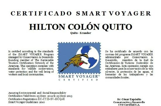 Hilton Colon Quito: Smart Voyager Certified