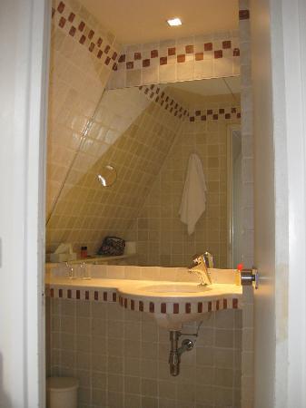 Vieux Marais : Fresh small bathroom