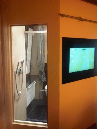 Hotel Petershof: TV + esterno doccia