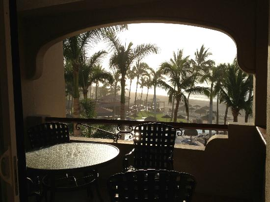 Worldmark Coral Baja: Balcony and pool area