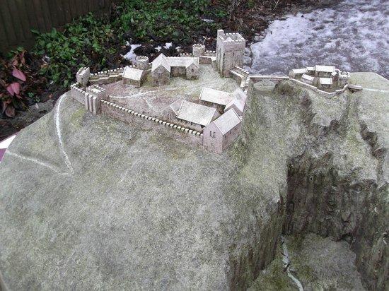 model of Peveril Castle.