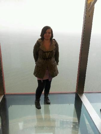 The Blackpool Tower Dungeon: me on top of tower
