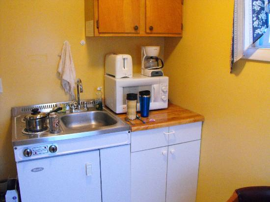Sunnyside Motel & Cottages : Small kitchenette