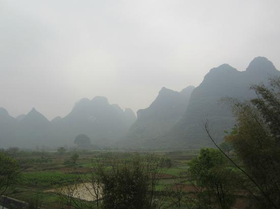 Yangshuo Tea Cozy: view from our room