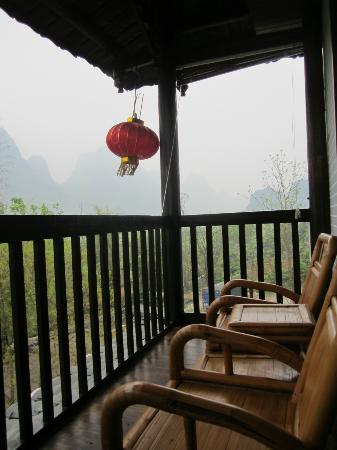 Yangshuo Tea Cozy: our balcony