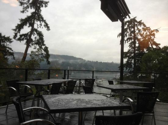 Seagrille: The view, on a rainy day from our table