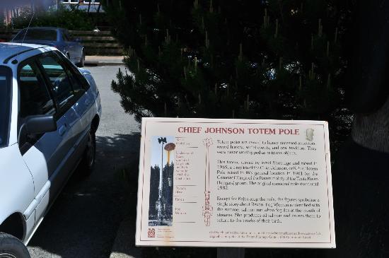 Chief Johnson Totem Pole: Self-explanatory