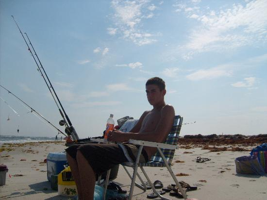 Surf fishing holden beach picture of holden beach for Carolina beach fishing