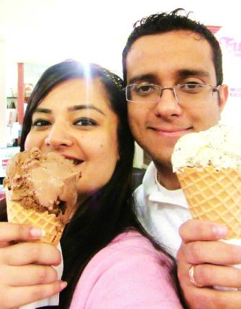 Farr Better Ice Cream: with my hubbie