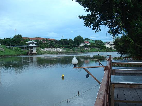 Petchpailin: The river Kwai from the dining terrace