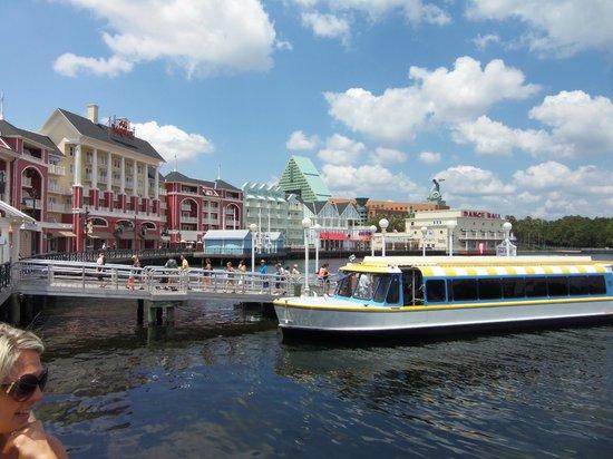 Disney's BoardWalk Inn:                   View of the Boarwalk and Boats