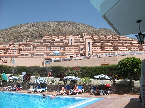 View From Pool Area Picture Of Castle Harbour Apartments Los Cristianos Tripadvisor