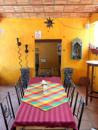 Sayulita Fish Taco: The upstairs area under the fan