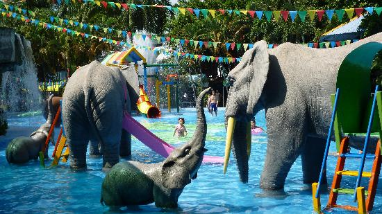 Dam Sen Water Park: Fantastic Kids pool (not real Elephants)