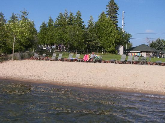 Crystal Lake Resort: Beach from water