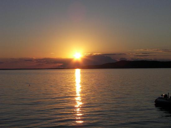 Crystal Lake Resort: Don't have to travel from your chair for a spectacular sunset