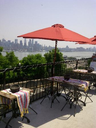 A View Of Nyc From Their Terrace Picture Of Charritos Weehawken