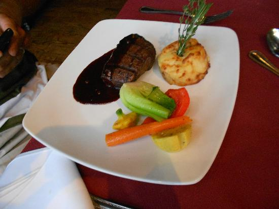 Chez Borivage : Grilled Sirloin Tip Served with a Five Pepper and Caramelized Apple Sauce