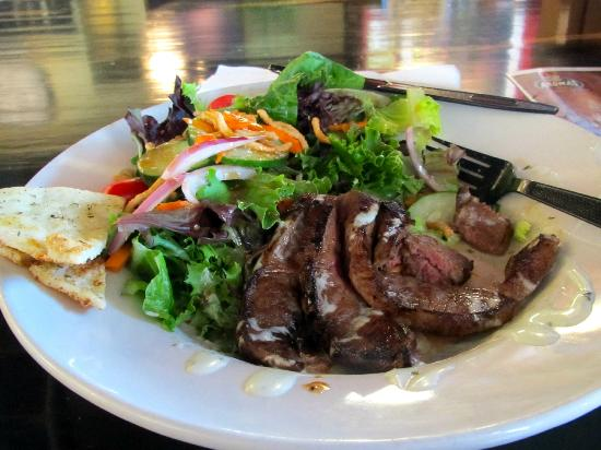 Aromas World - Specialty Coffees & Gourmet Bakery: Ate 1/2 before photo-Asian Steak Salad