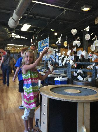 Children's Museum of Denver: Testing parachute to see if it works