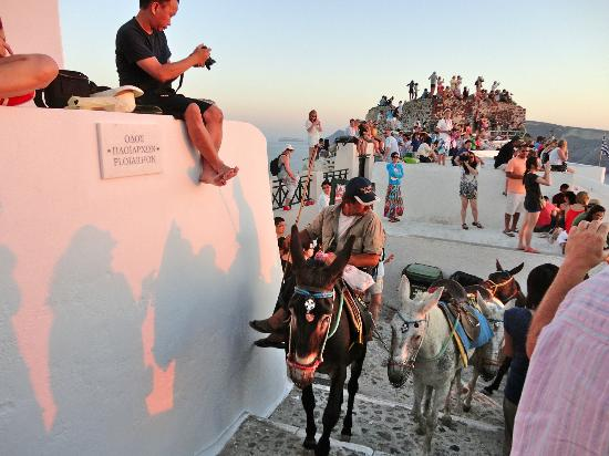 Old Oia Houses : 2 mins away, the crowds gather for the sunset