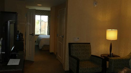 Hilton Garden Inn Mount Holly/Westampton : Junior Suite - good side fridge, sofa opened up