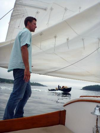 Sail Acadia: Welcoming captain.