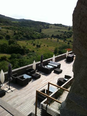 Riberach Hotel Cave-Restaurant: view from the terrace of the room
