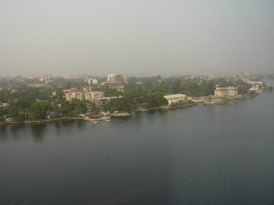Lagos Oriental Hotel: View of the river from the room
