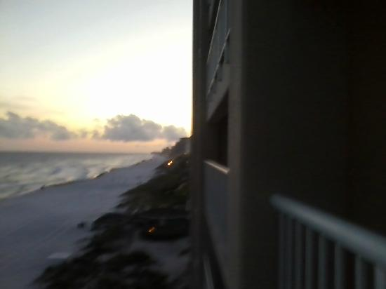Destin Gulfgate: View west from balcony at sunset